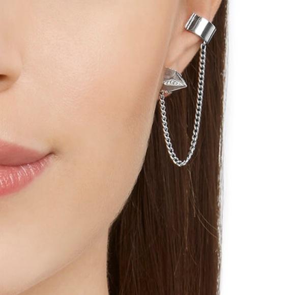 Jean Paul Gaultier Jewelry   Reverse Hoop Pierced Earrings   Poshmark 8f72bbe574